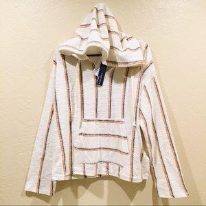Ocean Drive Beach Hobo Poncho Pullover Sweater NWT
